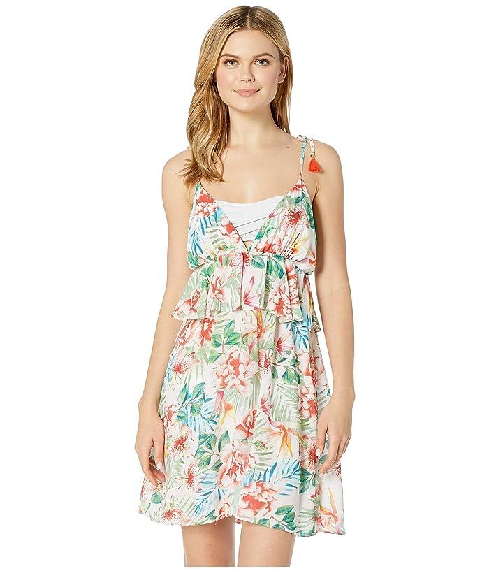 Lucky Brand Sunny San Diego Ruffle Swing Dress Cover-Up (Multi) Women