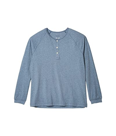 The Normal Brand Active Puremeso Long Sleeve Henley (Blue) Men