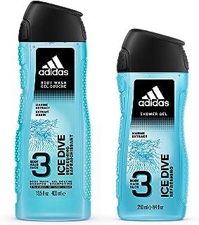 Adidas Ice Dive Shower Gel for Men, 400 ml + 250 ml