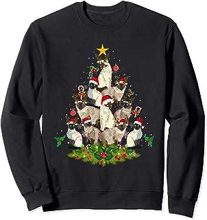 Cute Siamese Cats Tree : Merry Christmas Cat Lover Gift Sweatshirt