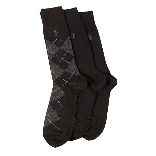 Ralph Lauren Mens Ribbed Crew Dress Socks