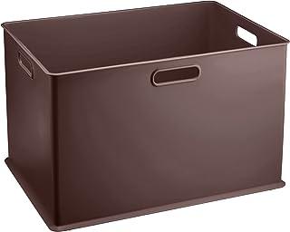 サンカ 収納ボックス Lサイズ ピュアブラウン色 (幅389×奥行266×高さ236) squ+ インボックス SQB-L-BR 日本製