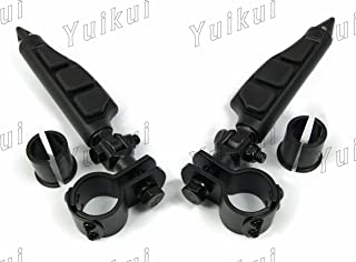 Universal Motorcycle Highway Pegs Crash Bar Foot Pegs Foot Rest Frame Mount Foot Pegs For 32mm 25.4mm Engine Guard Foot Pegs For KAWASAKI 900 VULCAN/CLASSIC/CLASSIC LT/CUSTOM From 2006