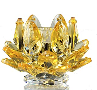 Crystal Gifts 1414/1 Candle Stick - Yellow