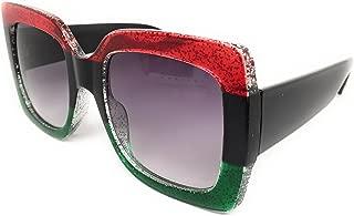 Oversize Sparkle Square Frame Sunglasses