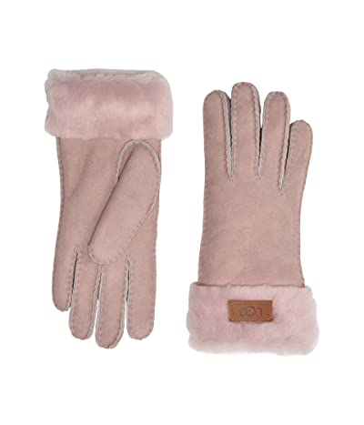 UGG Turn Cuff Water Resistant Sheepskin Gloves (Pink Crystal) Extreme Cold Weather Gloves