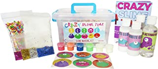 DIY Slime Kit- Complete 30 Piece Slime Making kit for Boys and Girls of All Ages| Fool Proof and Minimum Mess!| Includes Stickers and Educational e-Book
