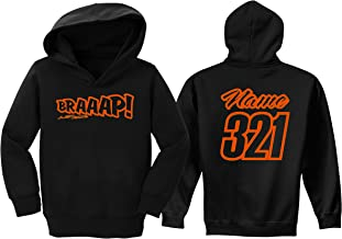 JUST RIDE Braaap Toddler Youth Hoodie Sweat Shirt Motocross Number Plate Custom Personalized