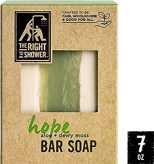 The Right To Shower Hope Shampoo Bar & Bar Soap Aloe and Dewy Moss Vegan 7 oz