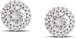 Victoria Townsend Cubic Zirconia Round Halo Stud Earrings (4.8 cttw)