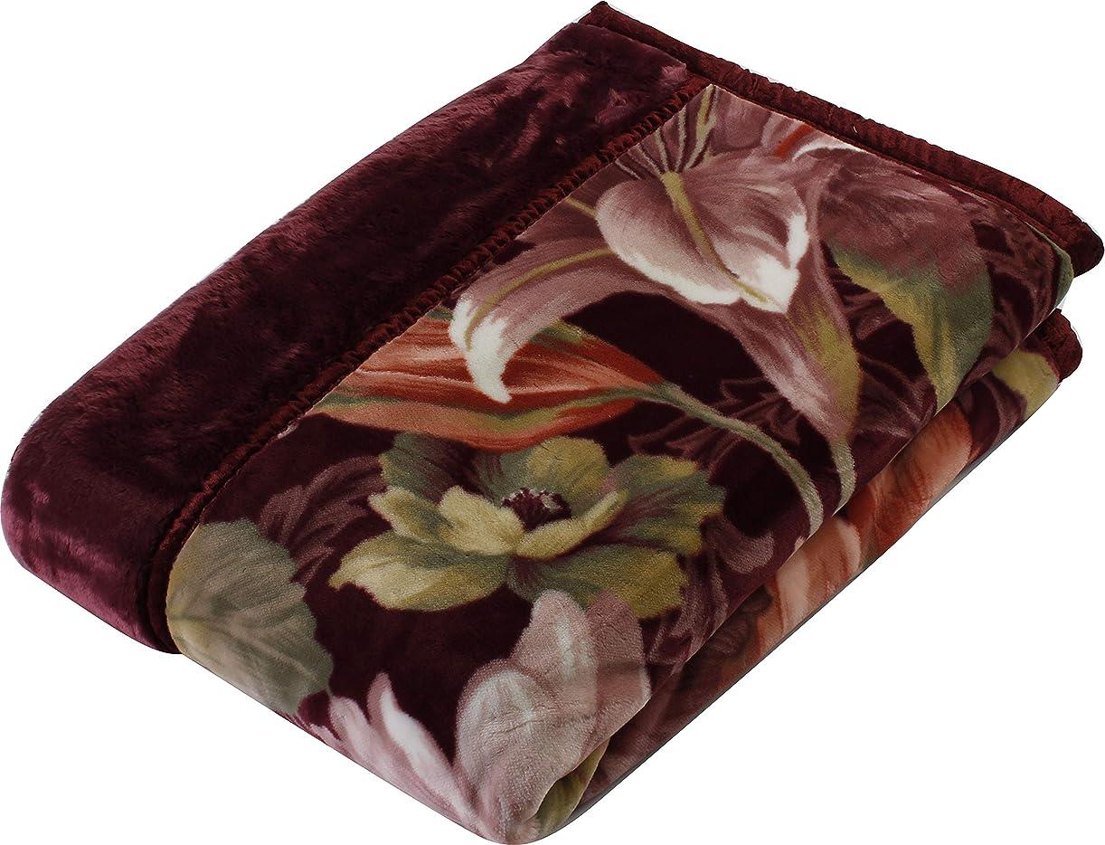イブニング編集者高揚した西川(Nishikawa) 毛布 ピンク シングル 140×200㎝ 日本製 2枚合わせ 洗える アクリル 衿付き 高級感 2K2478