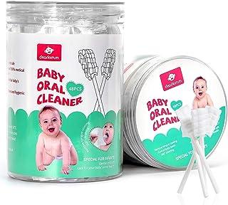 مسواک کودک 48PCS ، مسواک تمیزکننده زبان کودک تازه متولد شده کودک پاک کننده لثه کودک یکبار مصرف پاک کننده زبان مسواک نرم مسواک نوزاد تمیز کردن دهان و دندان چوب مراقبت از دندان برای 0-36 ماه کودک