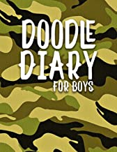Doodle Diary For Boys: Unlined Blank Journal For Doodling Drawing Sketching & Writing