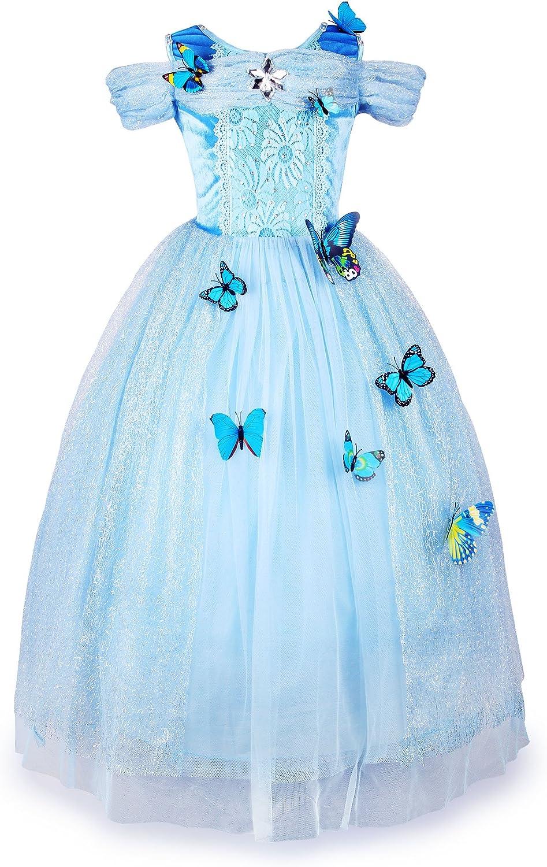 JerrisApparel Memphis Mall Topics on TV Flower Girls Dress Butterfly Girl Princess Costume