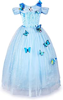 JerrisApparel Girls Princess Costume Butterfly Halloween Party Dress