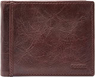 Fossil Men's Ingram Leather RFID Blocking Bifold Flip ID Wallet