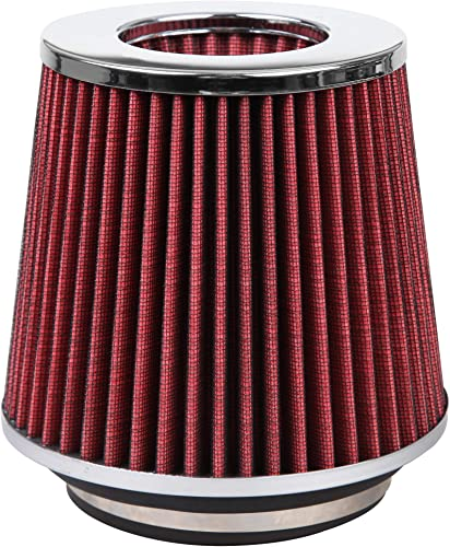 2021 Cartman Universal Clamp-On Engine outlet sale Air Filter, Washable, Round Tapered, 3/3.5/4 Inch (76mm/89mm/101mm) Flange ID, 5.1 Inch (130mm) Height, 6.1 Inch (155mm) Base, 4.73 popular Inch (120mm) Top, Red outlet sale