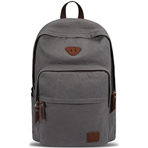 8b39bdd147 Ibagbar Vintage Canvas Backpack Rucksack Laptop Bag Computer Bag Daypack  Travel Bag College Bag Book Bag