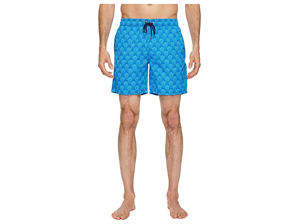 Mr. Swim Deco Dale Swim Trunks (Aqua) Men