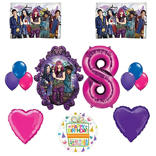 The Descendants Party Supplies And 8th Birthday Balloon Bouquet Decorations