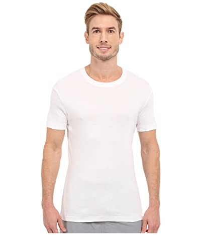 2(X)IST Pima Cotton Short Sleeve Crew (White) Men