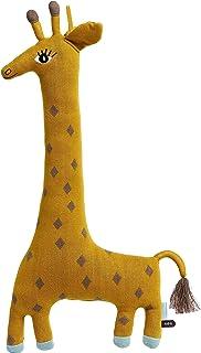 OyOy Mini Noah Giraff Cushion – söt baby barn kudde – stora gosekuddar och mysdyna – bomull 60 x 27 cm