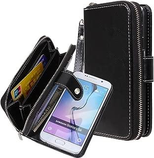 E LV Purse Case for Samsung Galaxy S6-2IN1 (CASE Cum Purse) PU Leather flip Wallet Bag..