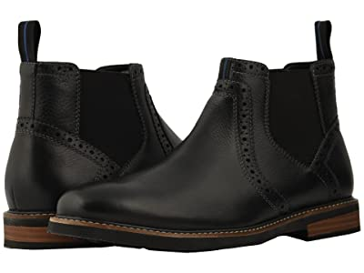 Nunn Bush Otis Plain Toe Chelsea Boot with KORE Walking Comfort Technology (Black Tumbled) Men