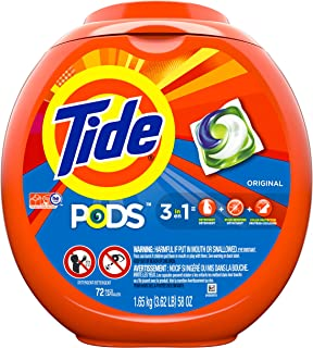 Tide PODS, Laundry Detergent Liquid Pacs, Original, 72 Count - Packaging May Vary