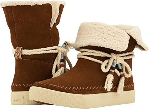 Dark Amber Suede/Faux Shearling
