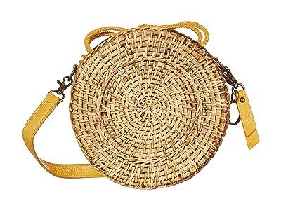 FRYE AND CO. Esme Straw Canteen Bag (Daffodil) Handbags