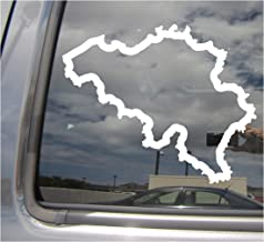 Right Now Decals Belgium Country Outline - BE Brussels Belgian Europe - Cars Trucks Moped Helmet Hard Hat Auto Automotive Craft Laptop Vinyl Decal Store Window Wall Sticker 07132