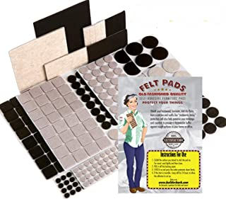 Felt Furniture Pads for Hardwood Floors - Effective Chair Leg Floor Protectors. Protect Your Home from Scratches. Easy to Use - Proven Results 274pc MEGA Pack 2-Colors 8 Shapes & Sizes