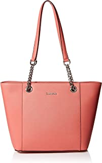 Calvin Klein womens Calvin Klein Hayden Mercury Leather East/West Tote