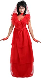 Red Gothic Women's Wedding Dress Costume