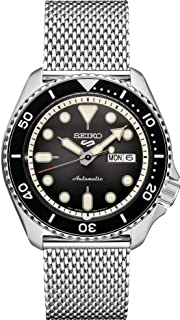 Seiko Men's 5 Sports Automatic Watch with Stainless Steel Strap, Silver, 22 (Model: SRPD73)