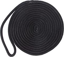 Double-Braided Nylon Dock Lines - Premium Docking Lines with 12 inch Eyelet Boat Mooring Line Anchor Rope D: 3/8 inch 1/2 ...