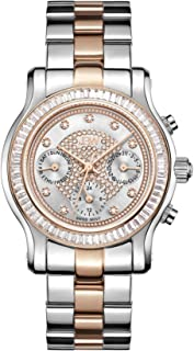 JBW Laurel Women's 9 Diamonds Two-Tone Stainless Steel & Rose Gold Band Watch - J6330D