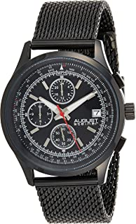 August Steiner Men's Multifunction Sports Watch - Dark Dial with Month of Year, Day of Week, and 24 Hour Subdial + Bonus D...