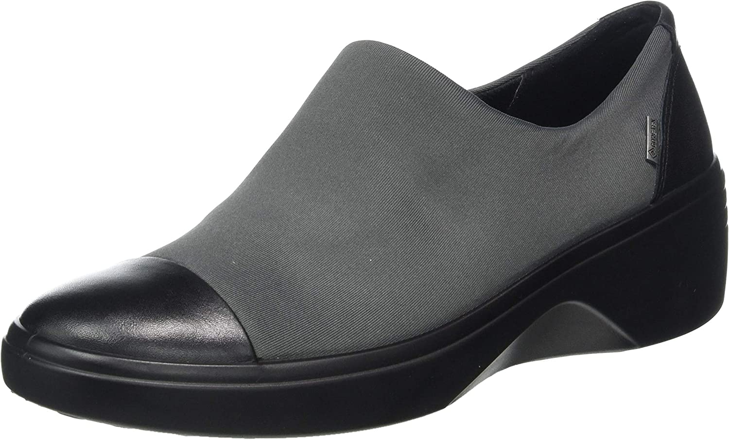 ECCO Womens Soft 7 Wedge Blackmagnet Loafers