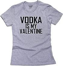 Hollywood Thread Love Vodka is My Valentine Drinking Funny Women's Cotton T-Shirt