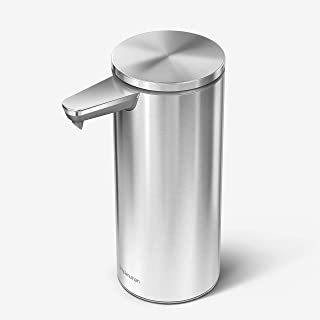 simplehuman 9oz. Rechargeable Sensor Liquid Soap Dispenser, Brushed Stainless Steel