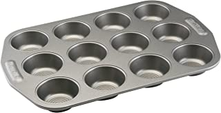 Circulon Total Nonstick 12-Cup Muffin Tin / Nonstick 12-Cup Cupcake Tin - 12 Cup, Gray
