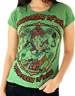 Yoga Tees - Omtimistic Women's Casual Ganesh Graphic T-Shirt