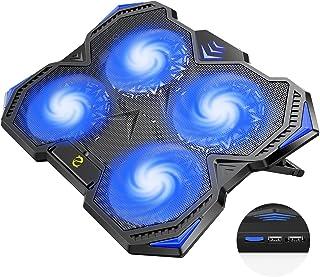 hiwings Version 2021 Refroidisseur PC Portable, Ultra-Silencieux Ventilateur PC Portable, Support Ventilé pour Ordinateur ...
