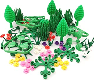 SPRITE WORLD Block Parts Compatible for Major Brand Garden Flower Tree Plant Set Building Toy Trees Plants Flowers