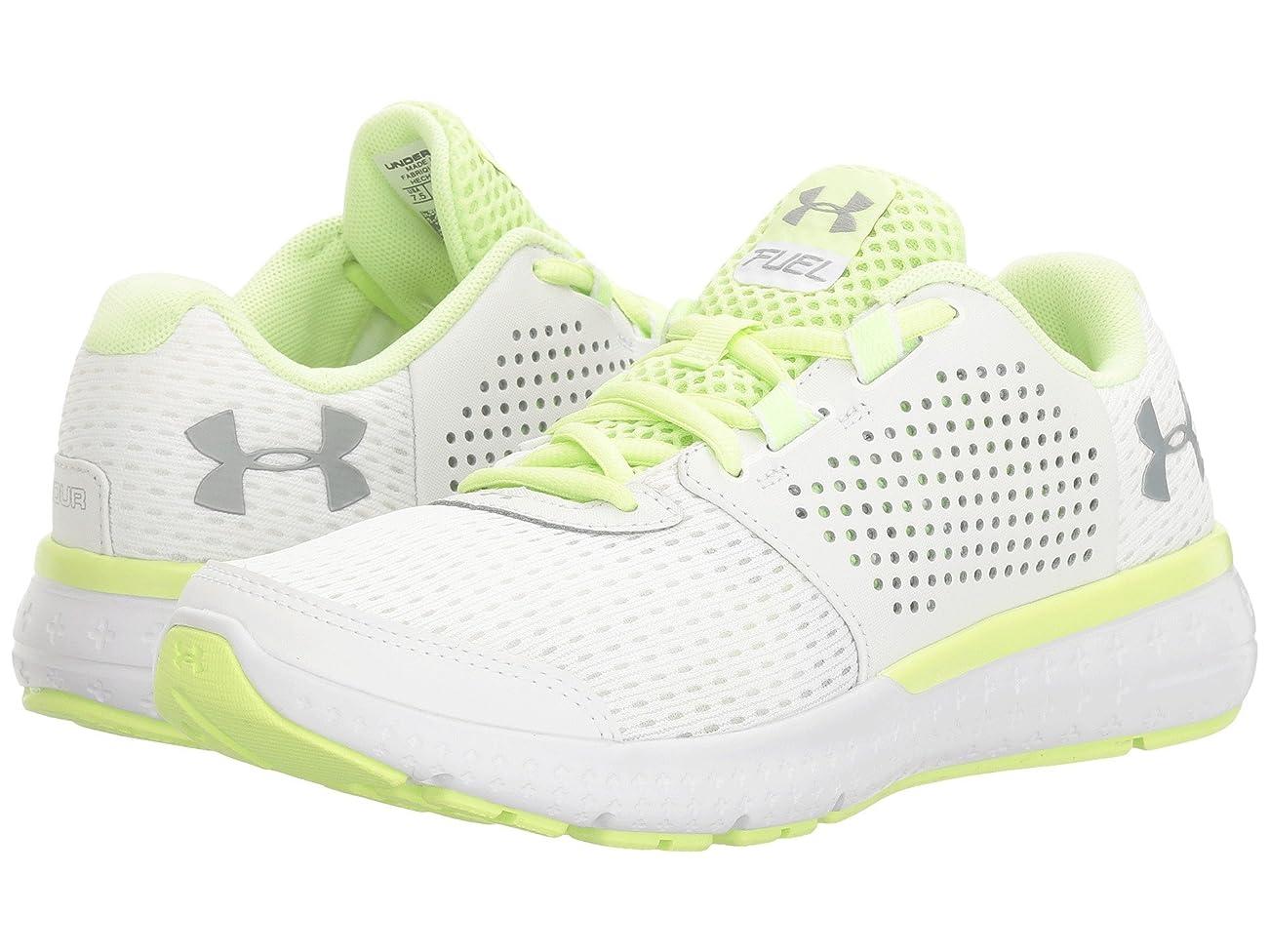 革命その間で出来ている(アンダーアーマー) UNDER ARMOUR レディースランニングシューズ?スニーカー?靴 UA Micro G Fuel RN White/Lime Fizz/Overcast Gray 8 (25cm) B - Medium