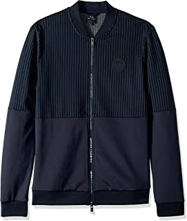 A|X Armani Exchange Men's Pin Striped Zip Up Sweatshirt