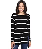 Brigitte Bailey - Adelle Long Sleeve Top with Lace-Up Sides