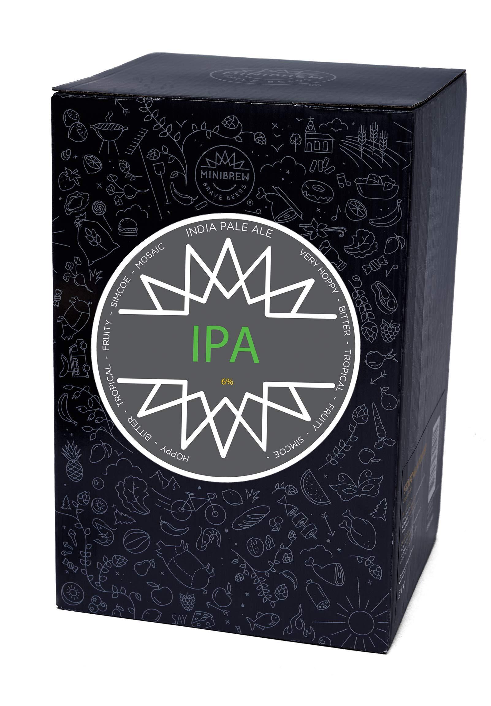 MiniBrew Brew Pack IPA Ingredientes para elaborar Cerveza Craft (6%): Amazon.es: Hogar